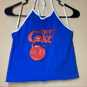 Cherry Coca Cola Forever 21 Halter Crop Top